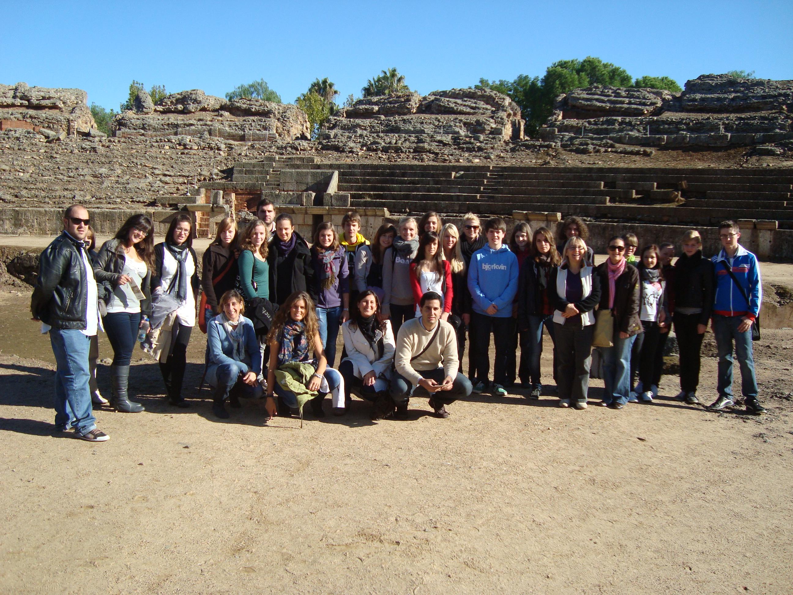 Visita a m rida alumnos alemanes y de giat blog del ies for Oficina de turismo de merida