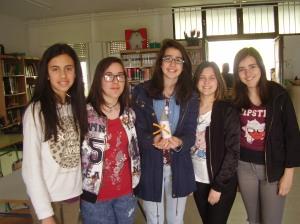 Alumnas ganadoras de la gymkana