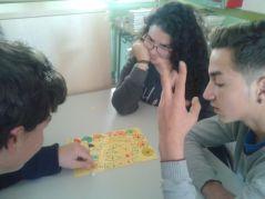 """Iván, Raquel y Andrés con """"El recorrido de las pizzas de fracciones"""""""